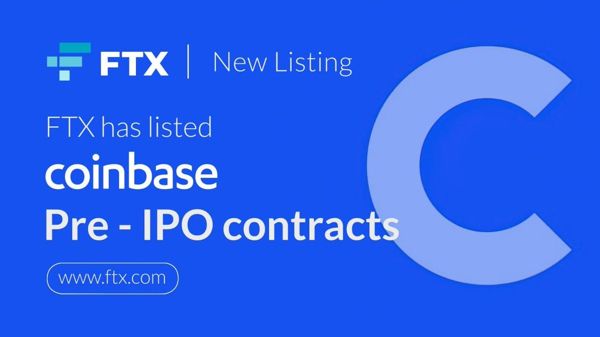 "FTX - Built By Traders, For Traders on Twitter: ""Coinbase pre-IPO contracts  have arrived! Spot margin enabled up to 5x leverage:  https://t.co/ynQaYOBVSs… """