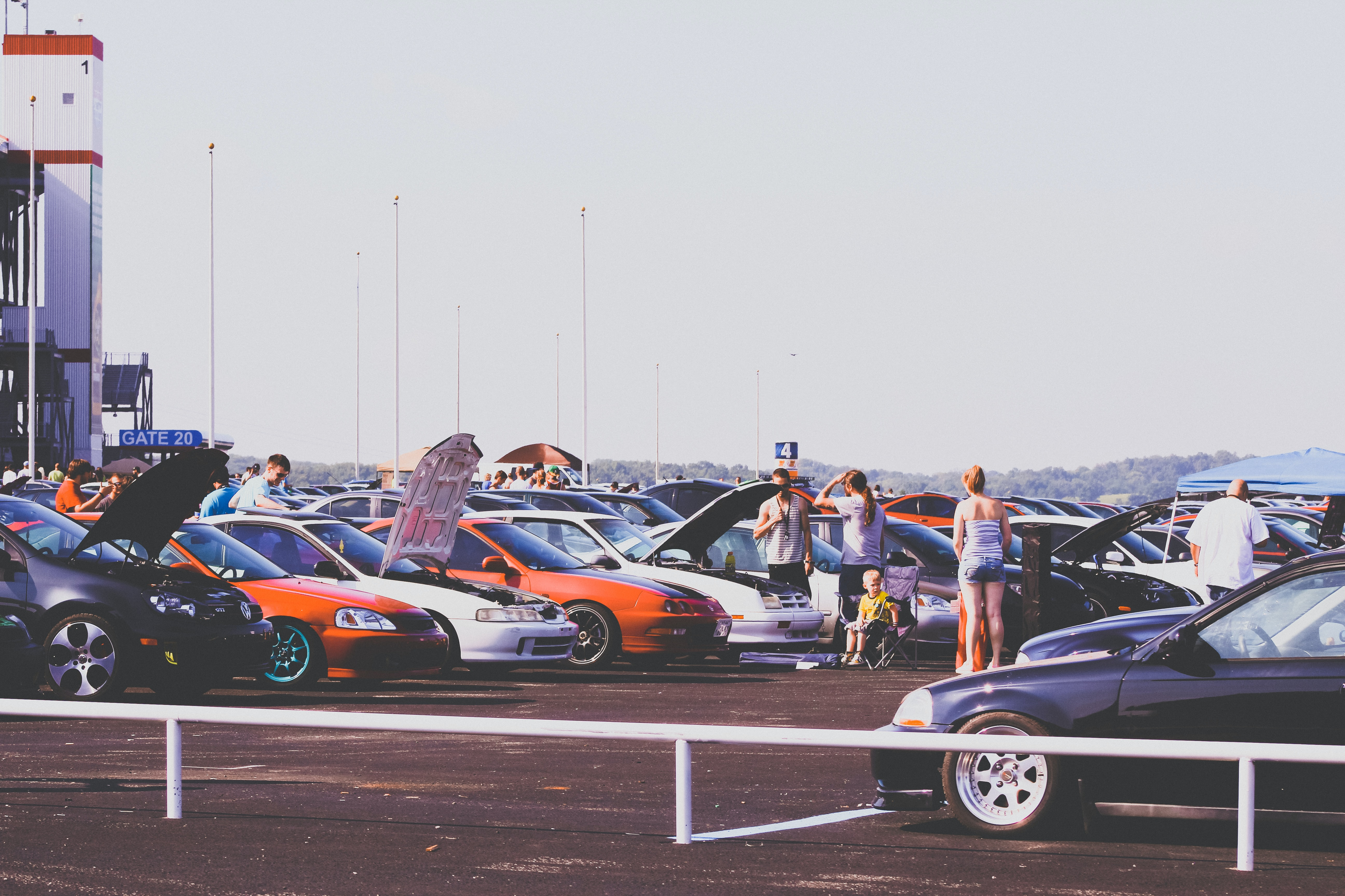 assorted cars on parking area